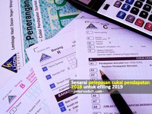 Senarai Pelepasan Cukai Pendapatan 2018 Untuk Efiling 2019 Jom Urus Duit